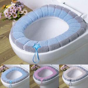 Toilet Seat Cover Mat Bathroom Winter Closestool Cushions Washable Soft Warmer