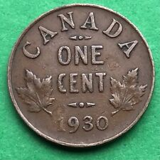 Lot I172 Canada 1930 1 one Cent penny King George V  Circulated