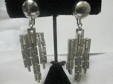 Vintage Coro Earrings Modernist Machine age clips 2 and 1/2 inch