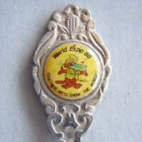 World Expo 88 Together We'll Show The World Souvenir Spoon Teaspoon (T79)