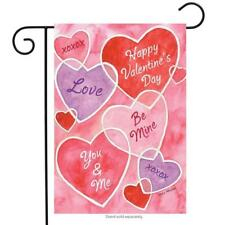 "Valentine's Messages Garden Flag Hearts Holiday 12.5"" x 18"" Briarwood Lane"