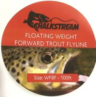 "NEW! ""Chalkstream"" Weight Forward floating TROUT fly fishing line WF4F WT12F."