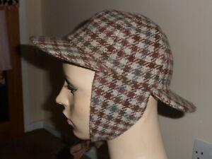 VINTAGE WOOL SHERLOCK TRAPPER HAT MADE IN ENGLAND