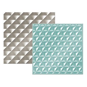"""American Crafts We R Memory Keepers 6"""" x 6"""" Next Level Embossing Folder - 2 Pack"""