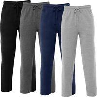 Mens Open Hem Bottoms Fleece Joggers Track Sweat Jogging Pant Trousers