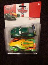 Disney Store Pixar Cars Nigel Gearsley & RIP Clutchgoneski 2 Pack Diecast NEW
