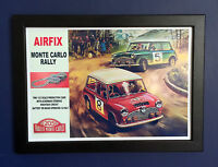 Airfix Monte Carlo Rally Mini Cooper Slot Car 1967 A4 Size Framed Poster Sign
