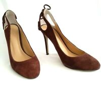 Seed Heritage Womens Suede Plum Stiletto Heels with Tassels - RRP$179.85 - Sz 38