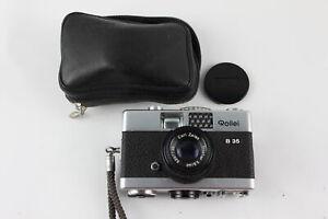 Rollei B 35 FILM CAMERA w/ Carl Zeiss Triotar 40mm Lens & Original Case WORKING