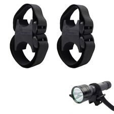 2X Flashlight Clamp Mount 4/Streamlight LED Torch Laser Rifle Scope Light