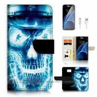 ( For Samsung Galaxy S7 ) Case Cover P0057 Skull