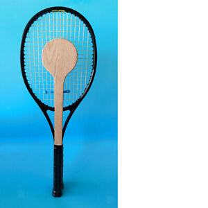 Wooden Tennis Spoon Sweet Spot Trainer Tennis Racket Practice Batting Accurately