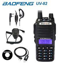 Baofeng UV-82 Black UHF VHF Dual Band Radio FM Walkie Talkie + Cable & Mic WW