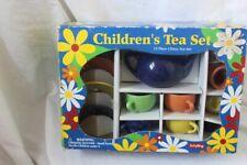 Vintage Schylling New in box 13 Piece Fiesta Style Childrens Tea Set