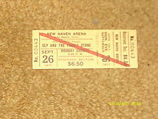Sly & Family Stone concert ticket 9/26/71 New Haven Arena, Connecticut (NM)
