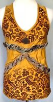 **L** Save the Queen stretch blouse Cami Tank Top Tunic Tee Dress made in ITALY