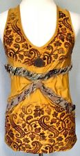 **L** Save the Queen stretch blouse Cami Tank Top Tunic Dress made in ITALY