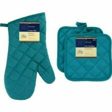 Home Collections - Kitchen Linens - Turquoise - Oven Mitt - Pot Holders - Holder