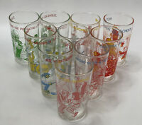 Set of 10 VTG Welch's 1970s Assorted Archie Comics Graphic Glasses AA
