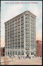 PHILADELPHIA PA Peoples Trust Company Building Antique Postcard Vtg Bank PC