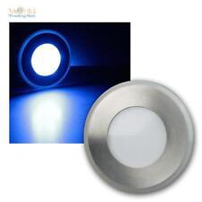 LED Faretto da incasso pavimento Acciaio inox, Luce blu, 12V, Lampada terra,