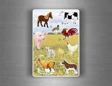 Planche 10 gommettes autocollants stickers enfant scrapbooking animaux ferme