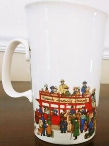 Harrods London Double Decker Sightseeing Bus Fine Bone China Mug Cup