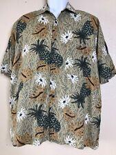Tropical Men Size M Camp Short Sleeve Button Front Rayon Munsingwear Hawaiian