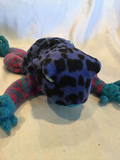 Collectible 2000-2001 TY Beanie Baby Dart Bright Blue Spotted Frog**