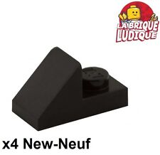 Lego - 4x slope pente incliné 45 2x1 2/3 cutout noir/black 92946 NEUF