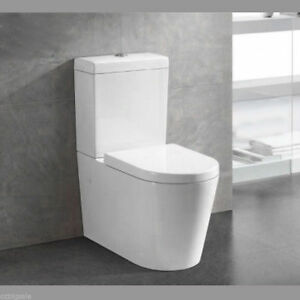 WELS Watermark TOILET SUITE BACK TO WALL FACED CLOSE COUPLED UF SOFT CLOSE seat