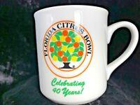 Florida Citrus Bowl Celebrating 40 Years Coffee Cup Mug Memorabilia ORLANDO