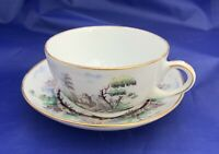 ca1850-1860 HAND PAINTED CONTINENTAL PORCELAIN TEA CUP AND SAUCER ONE OF A KIND!