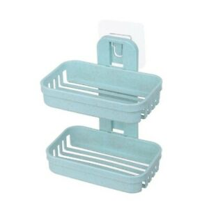 Soap holder box Toothbrush case drain dish tray cup bathroom wall shower