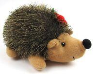 "Christmas Hedgehog Plush Pier One 2016 9"" long Bean Bag bottom Stuffed Animal"