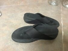 Women's Fitflop Black Thong Sandals Size 5 (CON36)