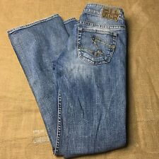 Silver Jeans Twisted Womens Jeans Size 27/33 Western Glove Works Five Pockets