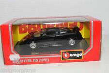 BBURAGO BURAGO 0535 535 BUGATTI EB110 EB 110 1991 BLACK MINT BOXED
