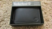 TIMBERLAND Men Genuine Leather Passcase Bifold WALLET New w/tags Black free ship
