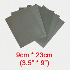 6 pc 3.5inch * 9 inch Wet & Dry Emery Sandpaper Sheets Mixed Grit 400 - 2500