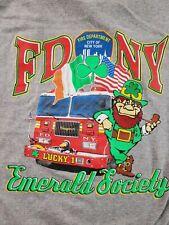 FDNY Leprechaun T Shirt Tee New York St Patricks Day Emerald Society Mens XXXL