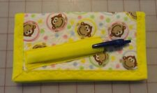 CHECKBOOK WALLET with pen & cc holder - Monkey Faces FINAL DISCOUNT