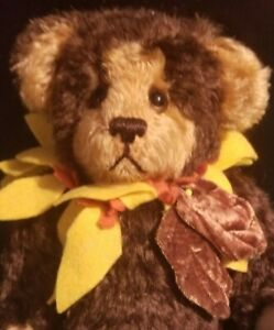 "SUNFLOWER BEAR 11"" SERSHA BEAR FULLY JOINTED MOHAIR SERIETTA NO RESERVE"