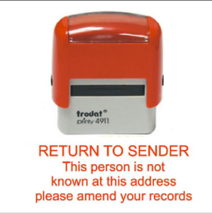 """Trodat 4911 """"Return to sender"""" Business Stamp Self Inking Office Rubber Stamps"""