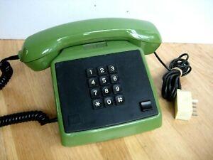 DDR Telefon alpha grün  VEB Fernmeldewerk Nordhausen Typ 590 Tastentelefon