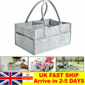 Baby Diaper Caddy Organizer Large Capacity Portable Nursery Felt Storage Bag SV