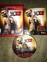 WWE'12 (Sony PlayStation 3, 2011) *BUY 2 ITEMS GET 1 FREE + FREE SHIPPING!*