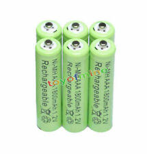 6x AAA 1800mAh 1.2V Ni-MH 3A Green Color Rechargeable Battery Cell