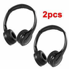 2PCS Infrarouge sans fil IR Casque stéréo Double canal pour voiture DVD MP3 T7B1
