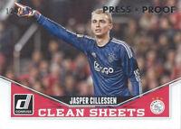 2015 Donruss Soccer Clean Sheets Silver Proof #6 Jasper CillessenAjax 124/199